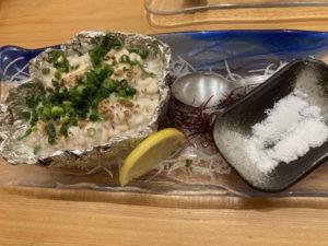 扇寿司焼き白子